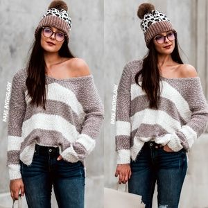 Oversized Soft Popcorn Sweater